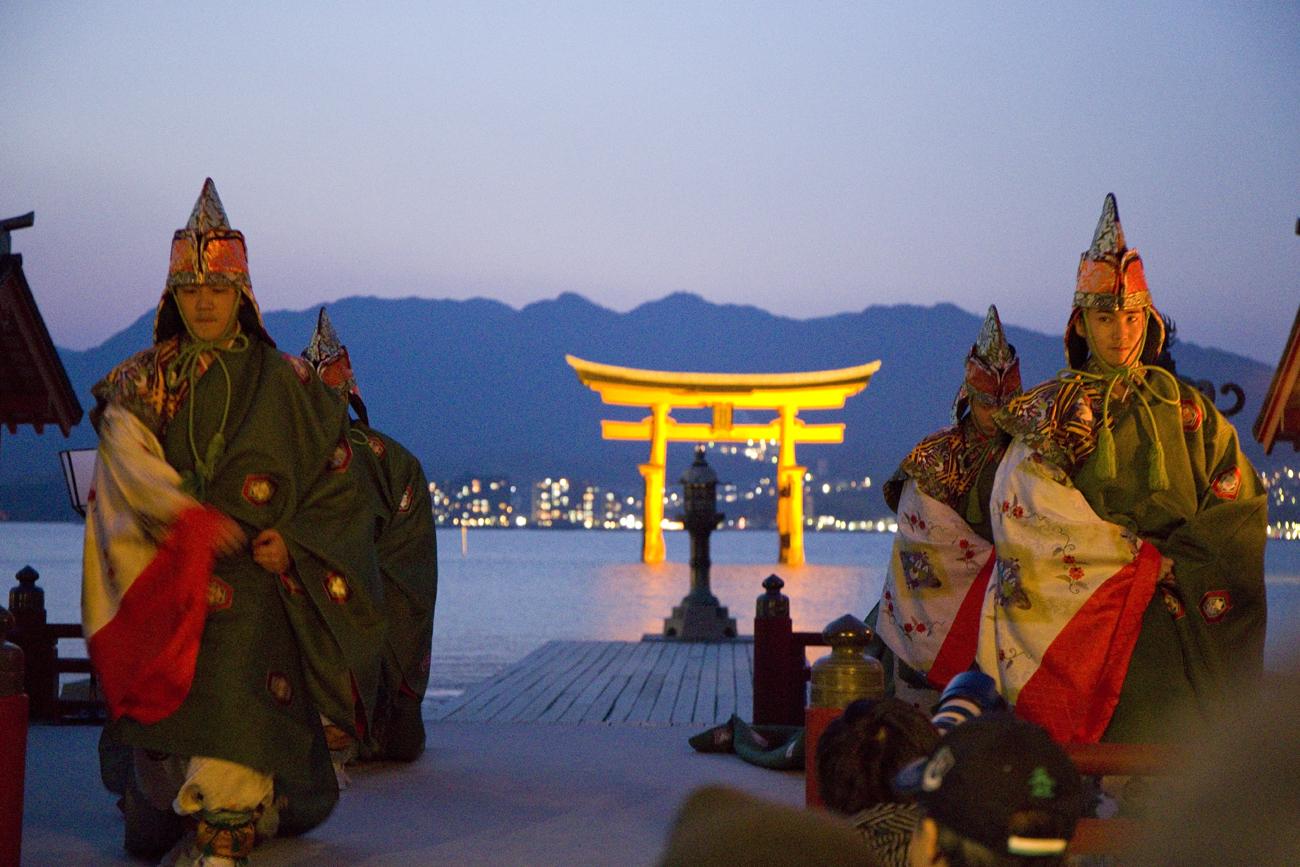宮島厳島神社の桜花祭8
