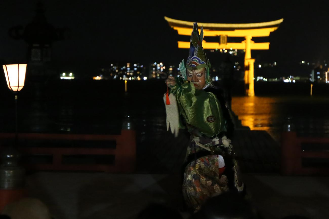 宮島厳島神社の桜花祭12