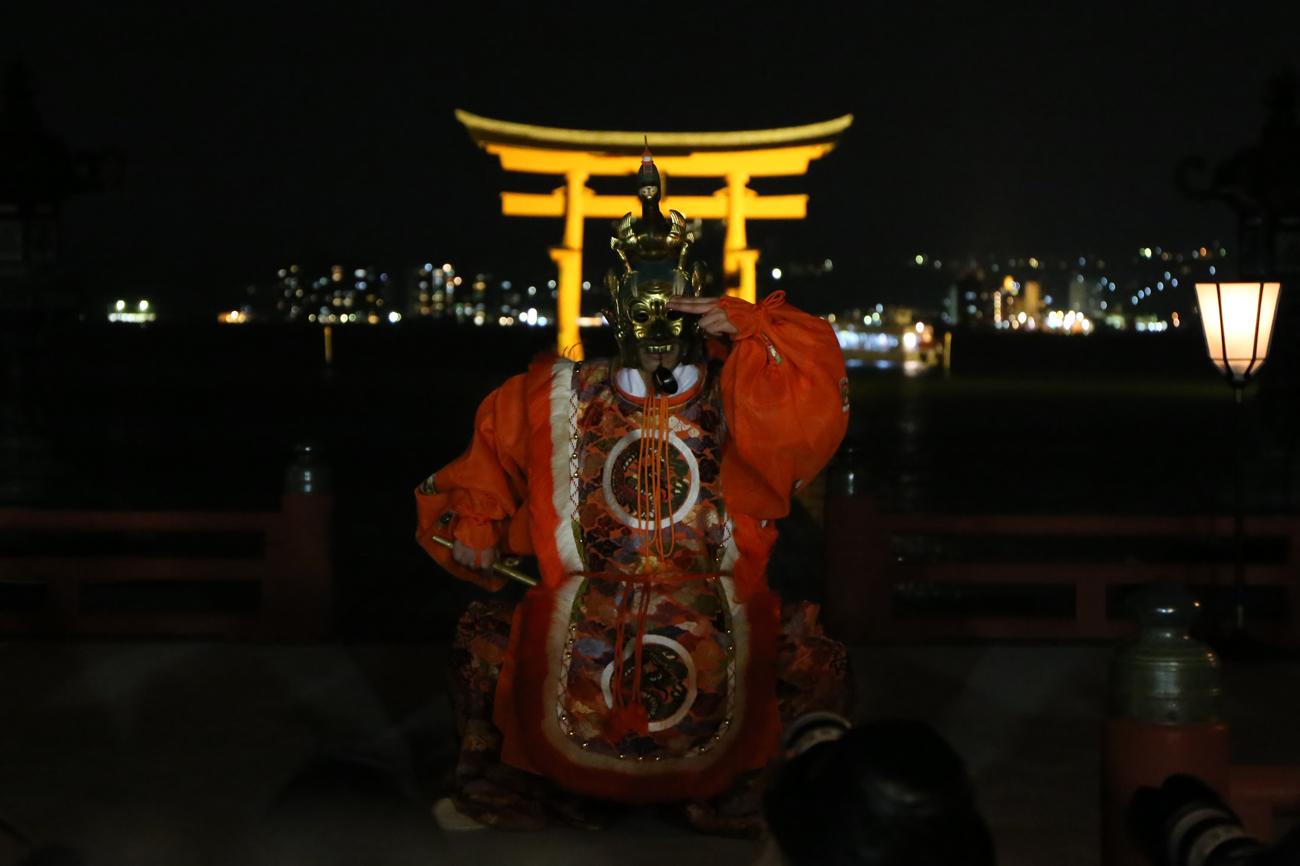 宮島厳島神社の桜花祭14