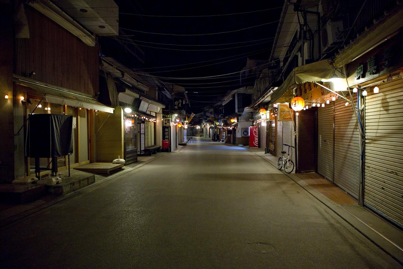 しまあかりのライトアップで幻想的な夜の宮島へ