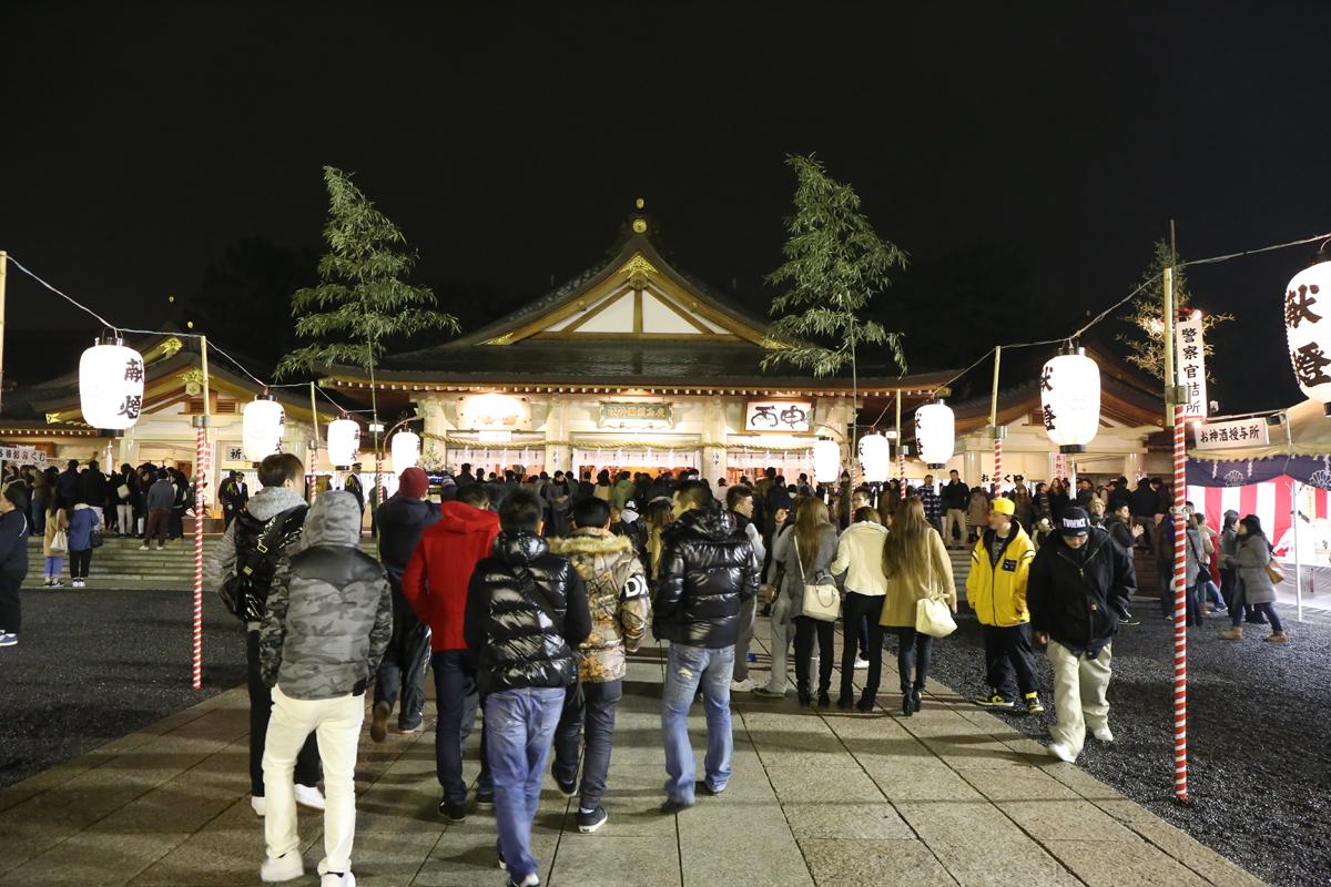 広島一の参拝者数 護国神社で初詣