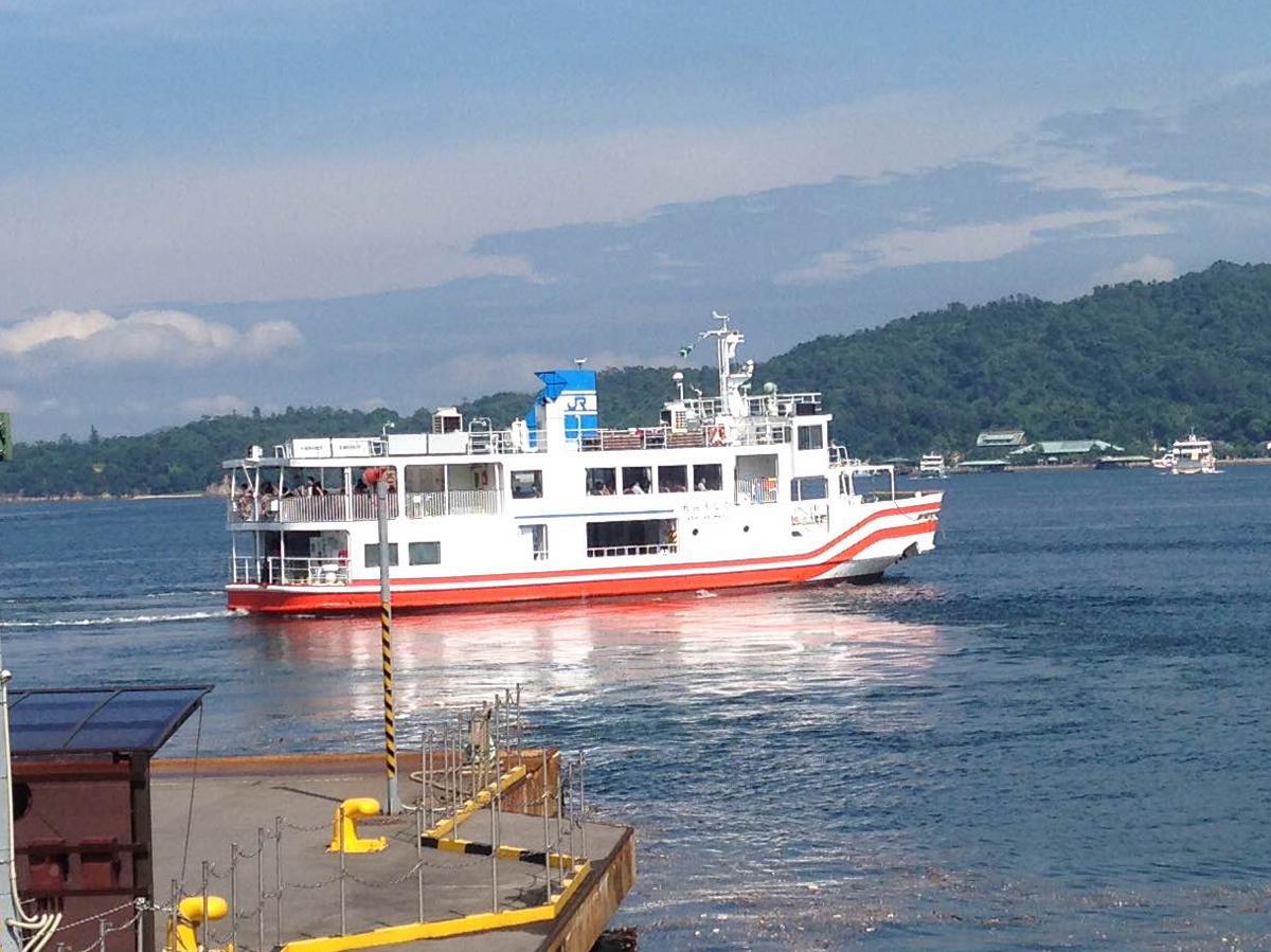 JR宮島フェリー「新ななうら丸」の就航までもうすぐ