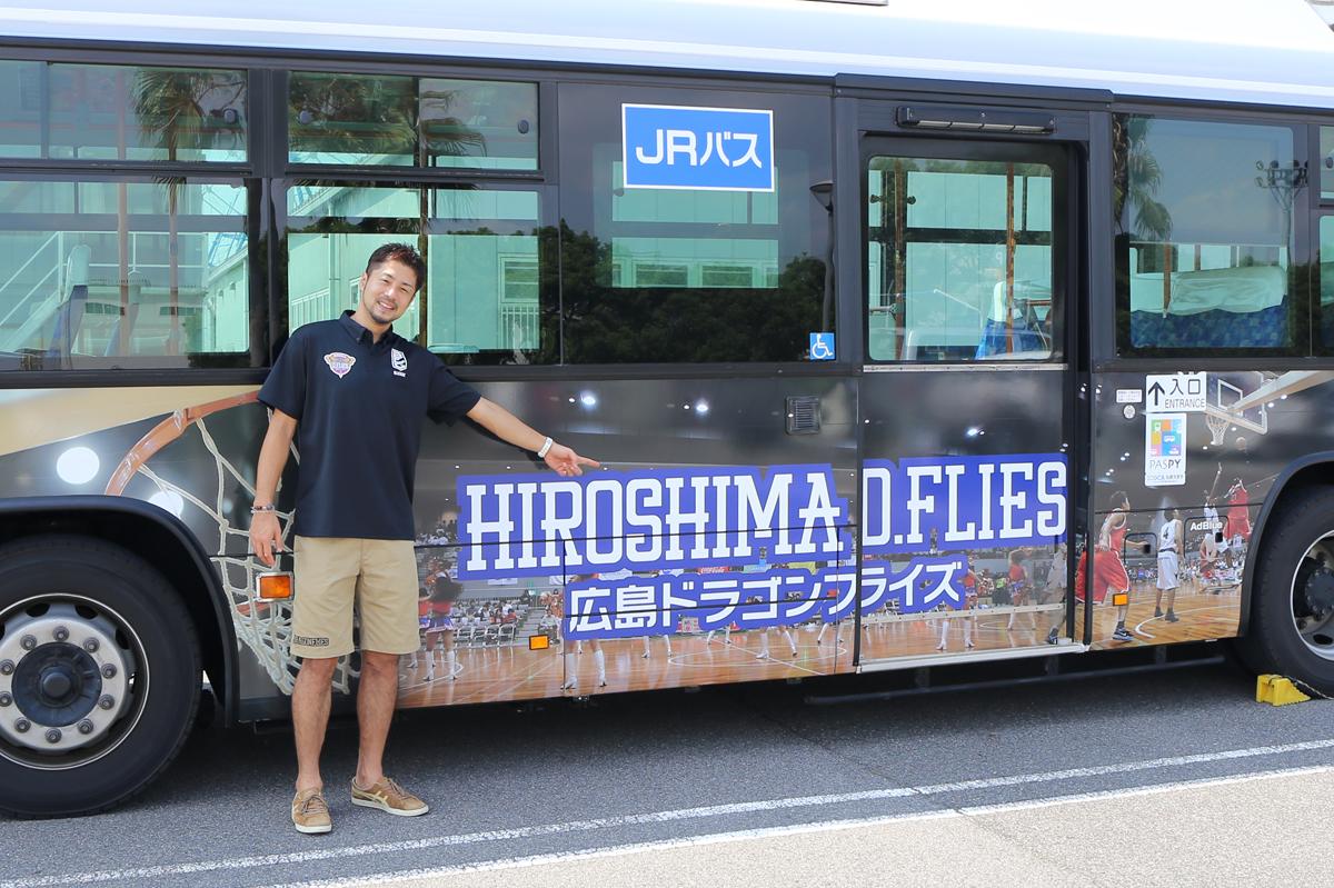 広島ドラゴンフライズラッピングバス4