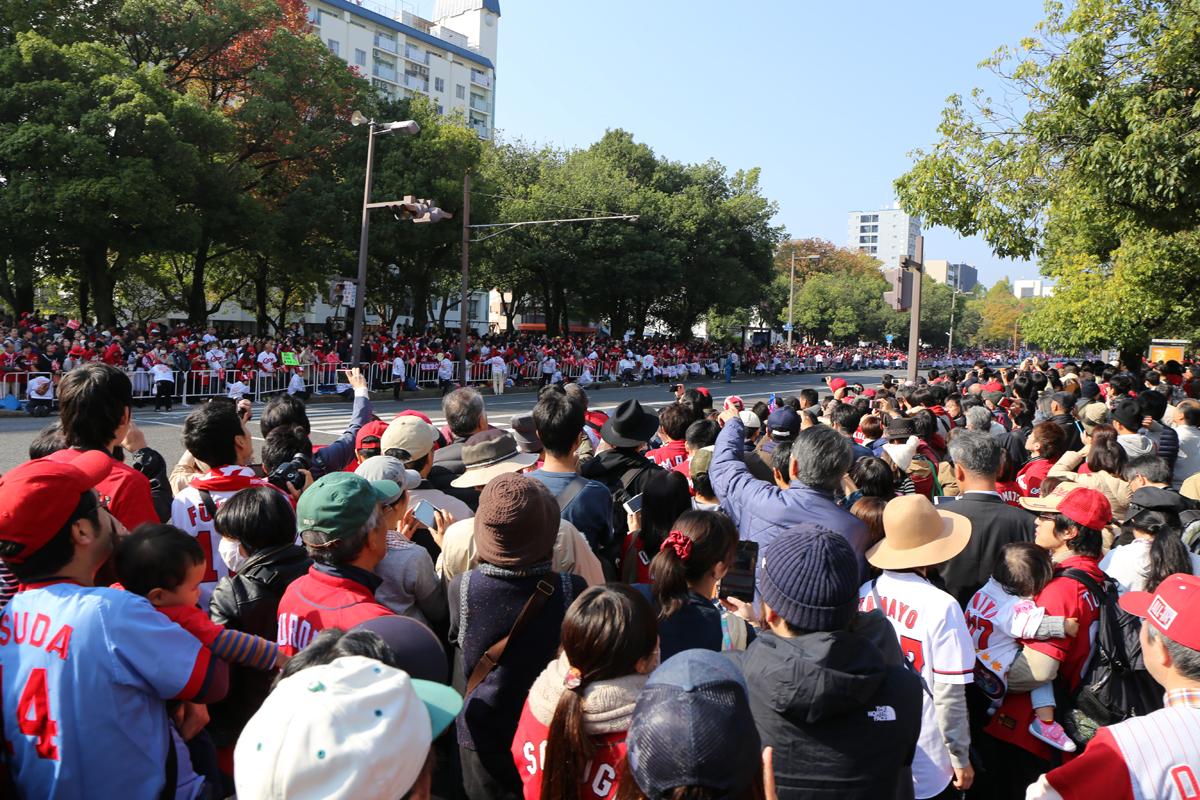 広島カープの優勝パレードが41年ぶりに開催
