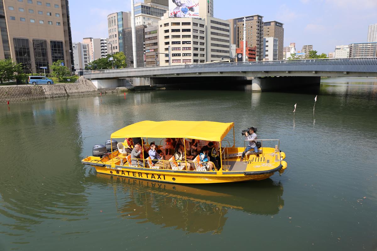 広島駅前と平和記念公園を結ぶ水上タクシーが就航